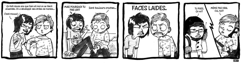 Bédé invitée: Faces laides